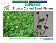 SLOPESHIELD Erosion Control Seed Mixture - ACF Environmental