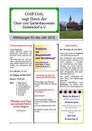 Mitteilungen 2012 - Sindelsdorf
