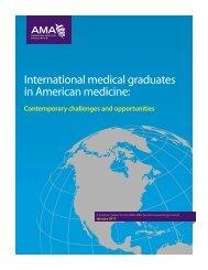 International medical graduates in American medicine:
