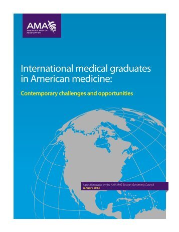 International medical graduates in American medicine: