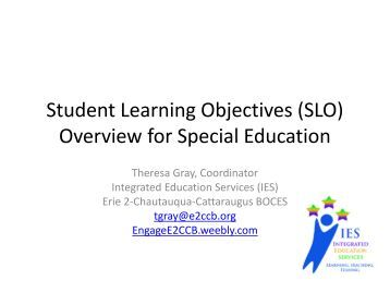 Crafting an effective student learning objective slo for Ohio slo template