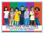 Good Start, Grow Smart Early Learning Standards - SC Department ...