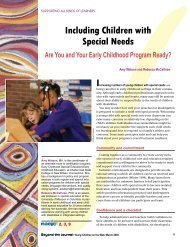Including Children with Special Needs - National Association for the ...
