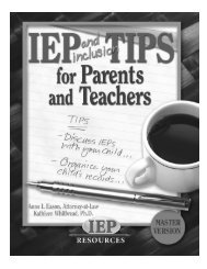 IEP and inclusion TIPS for Parents and Teachers - NAMI