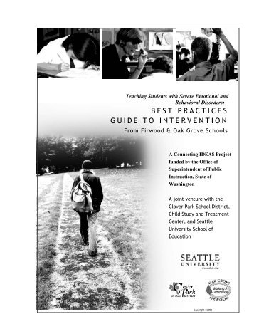 Best Practices Guide to Intervention: Teaching Students with