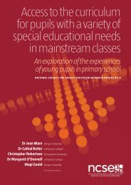 Access to the curriculum for pupils with a - National Council for ...