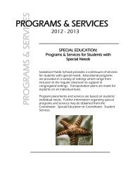 Special Education Programs and Services - Saskatoon Public Schools
