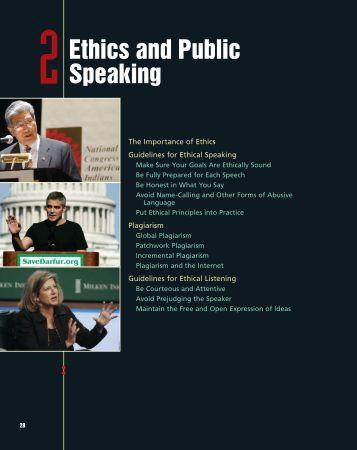 Ethics in Public Speaking