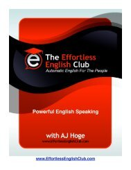 Powerful English Speaking e-Book, Download Now - Effortless English