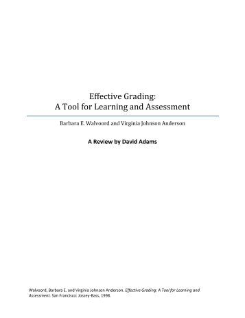 assessing for learning essay Course assessment practices and student learning strategies in online courses 4 form of an exam or essay question can affect how students study [10.