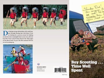 Boy Scouting . . . Time Well Spent - Boy Scouts of America