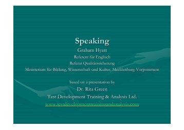 Speaking - KMK-Projekt Format