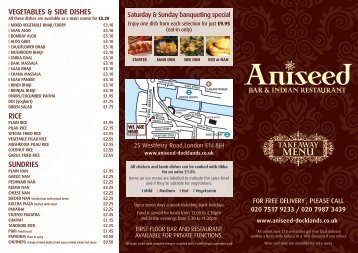 Download Menu - Aniseed Docklands