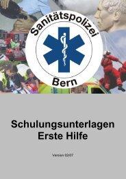 Schulungsunterlagen Erste Hilfe - Jegenstorf