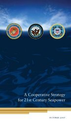 A Cooperative Strategy for 21st Century Seapower - The US Navy
