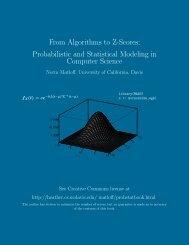 From Algorithms to Z-Scores - matloff - University of California, Davis