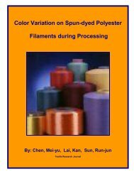 Color Variation on Spun-dyed Polyester Filaments ... - Fibre2fashion