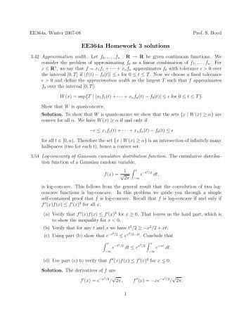 ee364a homework 2 solutions