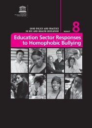 Education sector responses to homophobic bullying; Good policy ...