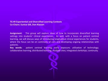 Diversified and Experiential Learning - University of Manitoba