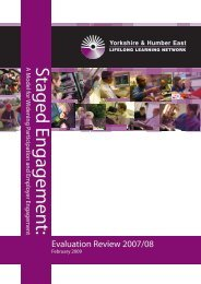 Staged Engagement Report 2007-8 - University of Hull