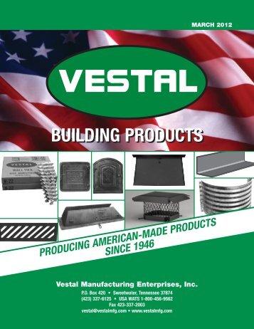2004 Full Line Catalog - Vestal Manufacturing