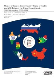 International Population Report - Census Bureau