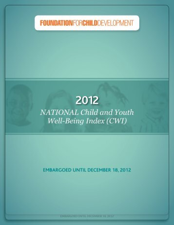 NATIONAL Child and Youth Well-Being Index (CWI) - Duke University