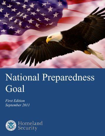 National Preparedness Goal - Federal Emergency Management ...