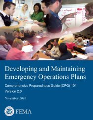 Comprehensive Preparedness Guide 101 - Federal Emergency ...
