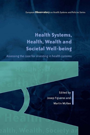 Health, Wealth and Societal Well-being - World Health Organization ...