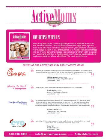 ADVERTISE WITH US - Active Moms Magazine