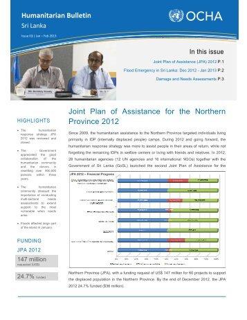 Humanitarian Bulletin - Issue 01 - Jan Feb 2013 - ReliefWeb