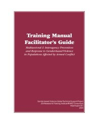 Training Manual Facilitator's Guide - Reproductive Health Response ...