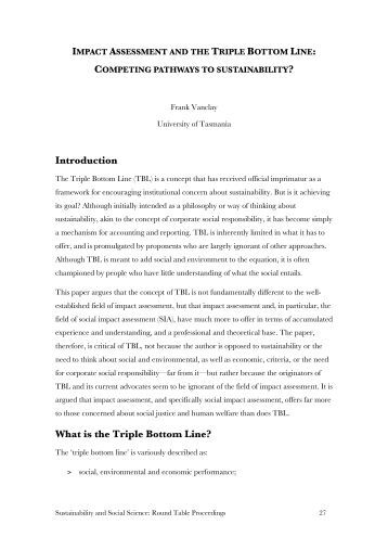 Implication Of The Use Of The Triple Bottom Line Approach In The Events Industry - Essay Example