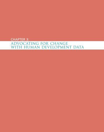 ADVOCATING FOR CHANGE WITH HUMAN DEVELOPMENT DATA