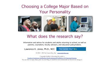 choosing college major