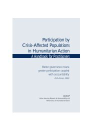 Participation by Crisis-Affected Populations in Humanitarian ... - alnap