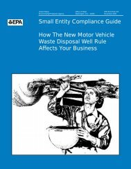 Small Entity Compliance Guide - US Environmental Protection Agency