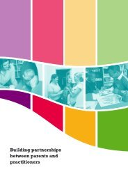 Building partnerships between parents and practitioners - National ...