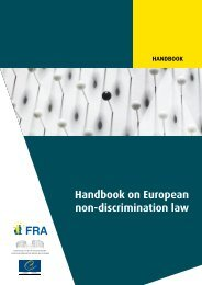 Handbook on European non-discrimination law - Cour Européenne ...