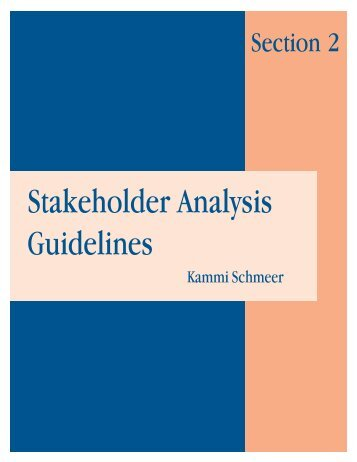 Stakeholder Analysis Guidelines - World Health Organization