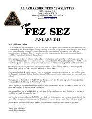 Jan 2012 Fez Sez - ClubRunner