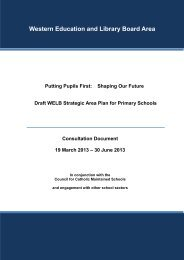 Draft WELB Strategic Area Plan for Primary Schools - Western ...