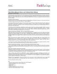 Fitch Affirms Mercantil Banco and Holding Entity's ... - Fitch Venezuela