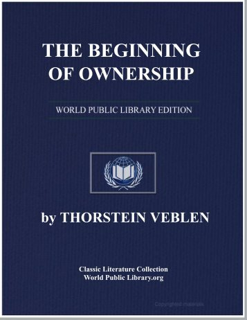the beginning of ownership - World eBook Library - World Public ...