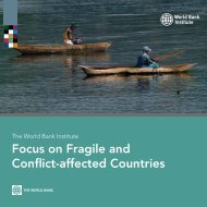 Focus on Fragile and Conflict-affected Countries - World Bank Institute