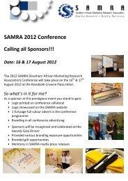 SAMRA 2010 Conference