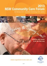 living & ageing well - Aged & Community Services Association of NSW