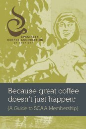 View Membership Brochure - Specialty Coffee Association of America
